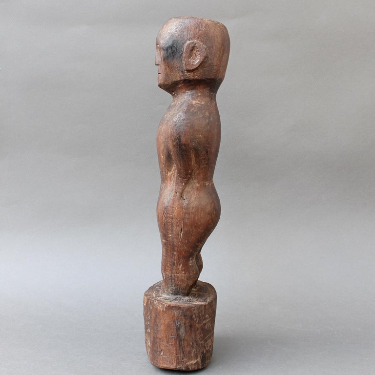 Wooden Carving or Sculpture of Standing Ancestral Figure from Timor, Indonesia For Sale 1