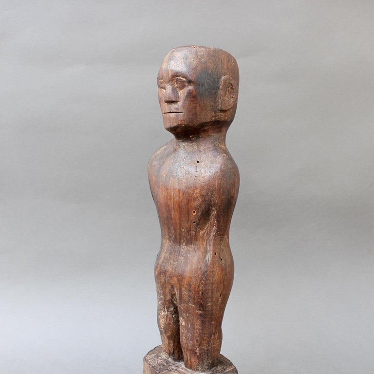 Wooden Carving or Sculpture of Standing Ancestral Figure from Timor, Indonesia For Sale 2