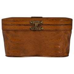Wooden Cased Inkwell Intricately Modelled as a Binocular Case, circa 1900