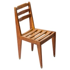 Wooden Chair Attributed to Gustave Gautier