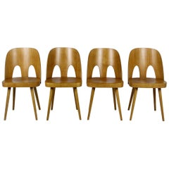 Wooden Chairs by Oswald Haerdtl for TON, 1960s, Set of Four