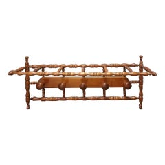 Wooden Coat Rack from the Beginning of the 20th Century