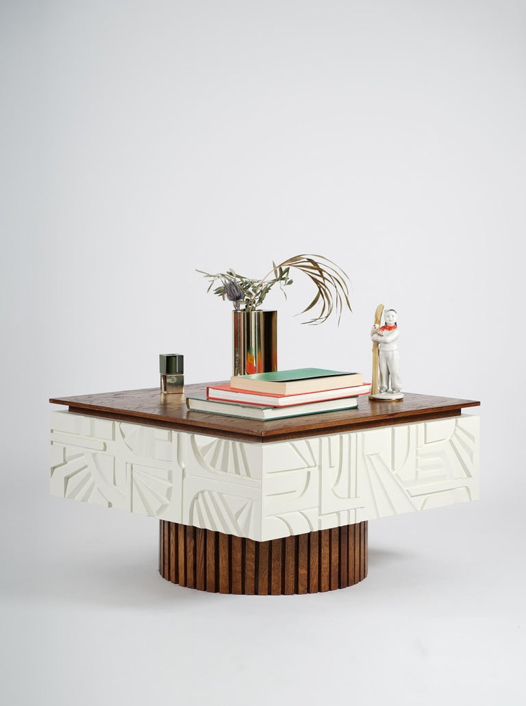 This wooden coffee table was created as a part of the