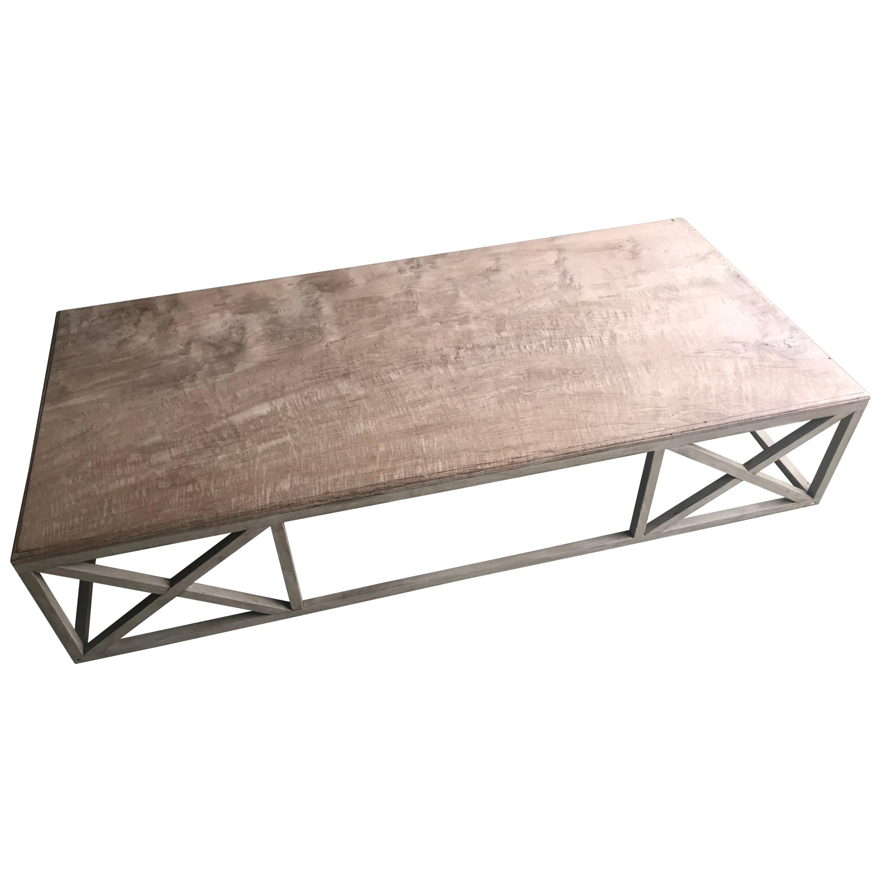 Wooden Coffee Table On An Wooden Base