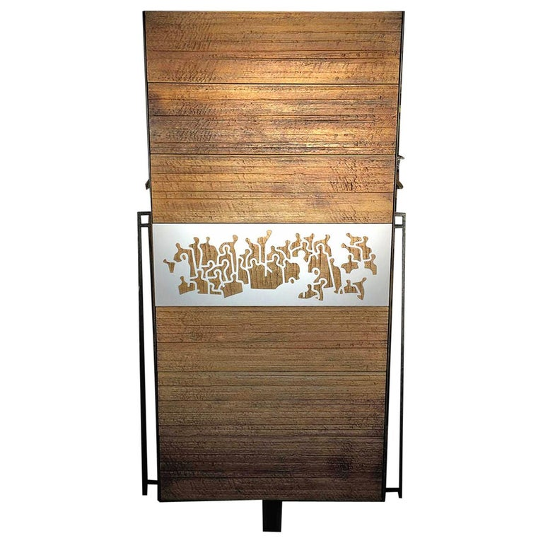 Wooden Contemporary Handmade Unique Cupboard Made in France For Sale