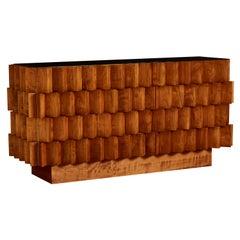 "Wooden ""Cubic"" Sideboard, by Studio Glustin"