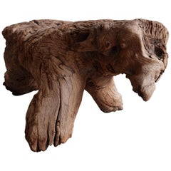 "Wooden ""Dog"" Stool from Mexico"