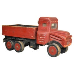 Wooden Folk Art Toy Truck
