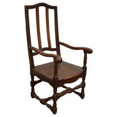 Wooden French Fauteuil, 19th C.