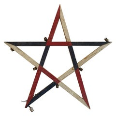 Wooden French Wall Decor, Star/Etoile Tricolor