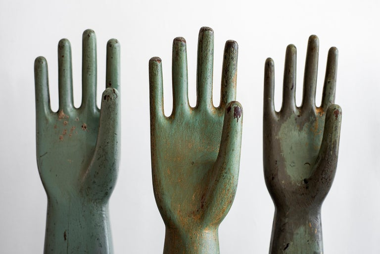 Mid-Century Modern Wooden Glove Molds For Sale