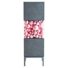 Wooden Gray Cabinet, Bubbles Collection, Amazing Emotional Design