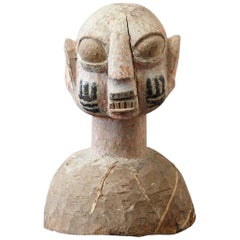 Wooden Head of a Wife of an Ooni of Ile-Ife, Yoruba People, Nigeria, circa 1930s