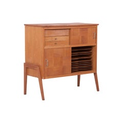 Wooden Highboard / Musicboard in Style of René-Jean Caillette, France, 1950s