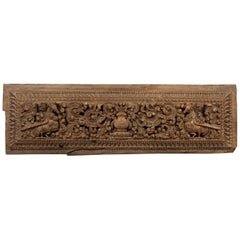 Wooden Lintel Frieze, South India, Late 19th-20th Century