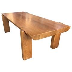Wooden Low Table by Luigi Gorgoni, 1974