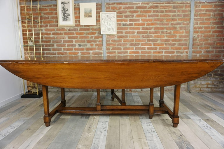 Wooden Marquetry Modular Dining Table For Sale 5