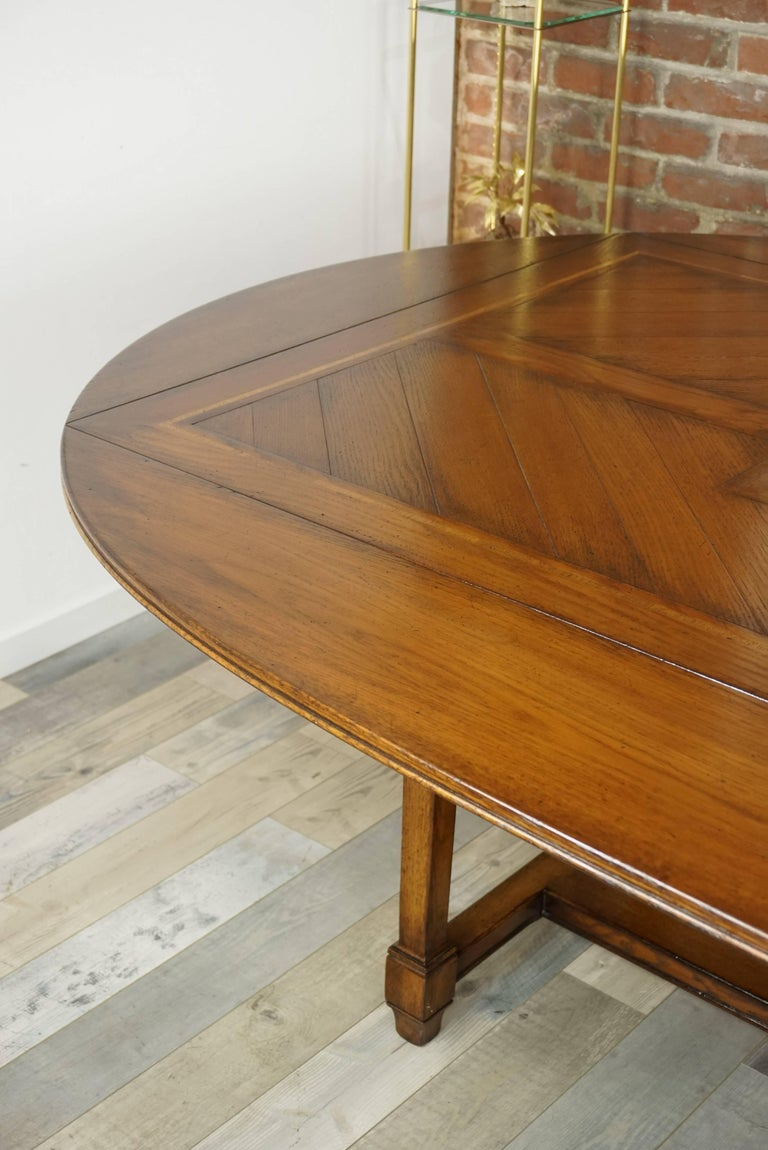 Wooden Marquetry Modular Dining Table For Sale 6