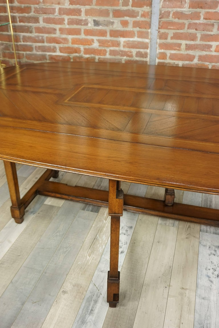 Wooden Marquetry Modular Dining Table For Sale 7