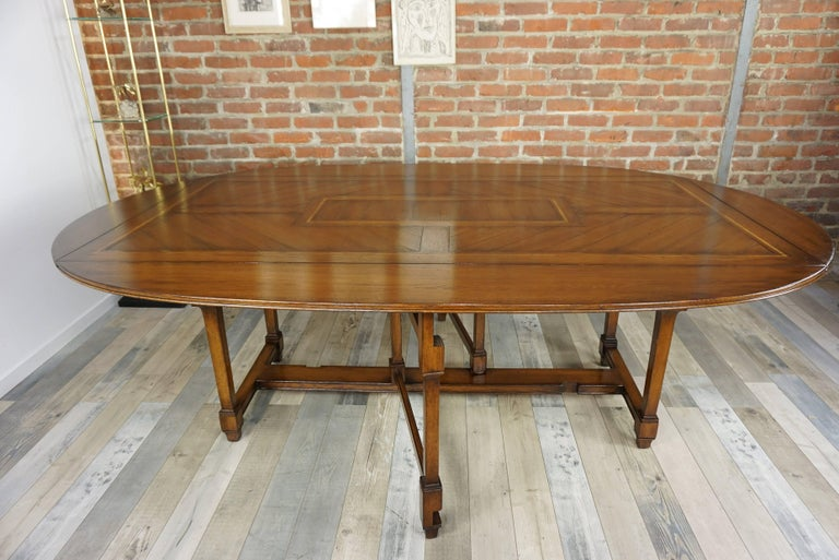 Wooden Marquetry Modular Dining Table For Sale 9