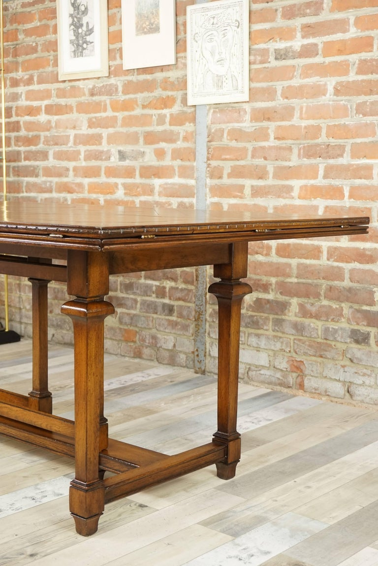 Belgian Wooden Marquetry Modular Dining Table For Sale