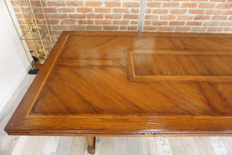 Wooden Marquetry Modular Dining Table For Sale 2