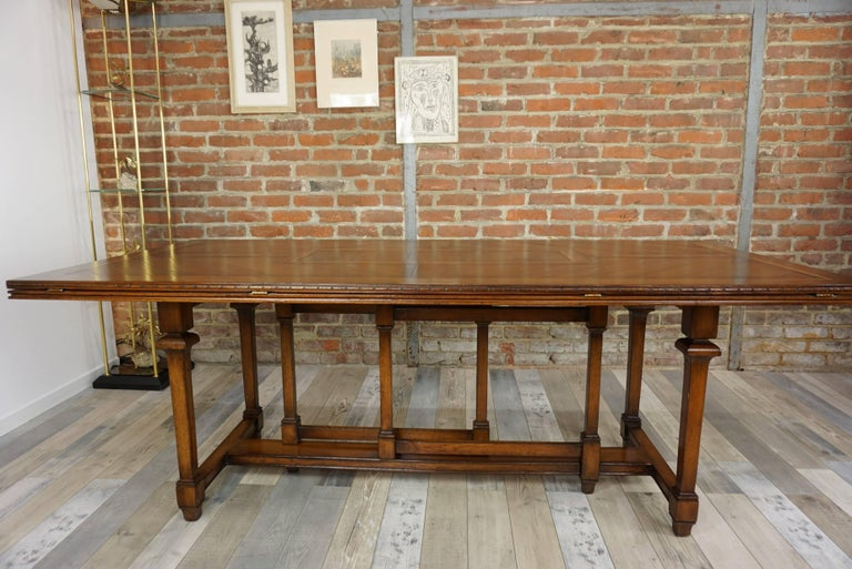 Wooden Marquetry Modular Dining Table For Sale 3