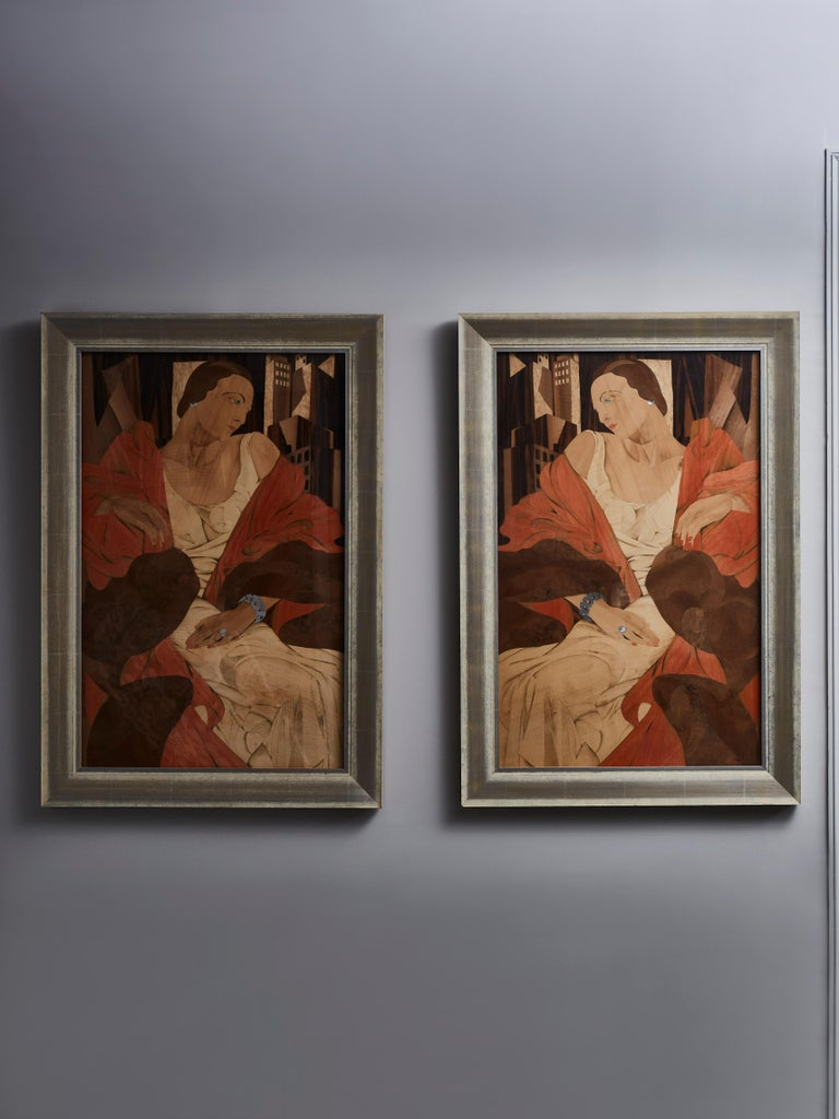 Gilt Wooden Marquetry Wall Art at Cost Price For Sale
