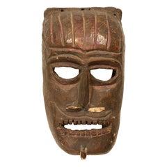 Wooden Mask, Karnataka, India, Mid-20th Century