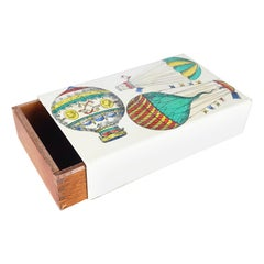 Wooden & Metal 1950s Small Box by Piero Fornasetti