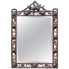 "Wooden Mirror, ""Forêt Noire"", 19th Century"