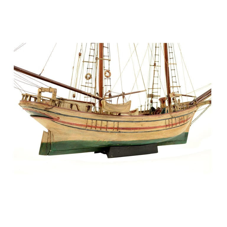 Wooden Model of a Ship 1915 circa For Sale 5