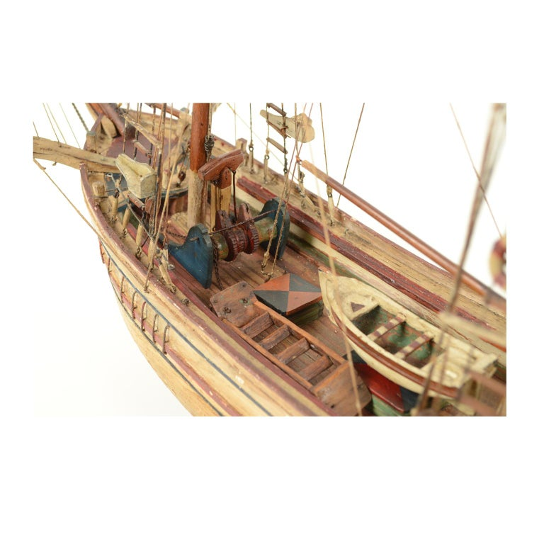 Syrian Wooden Model of a Ship 1915 circa For Sale