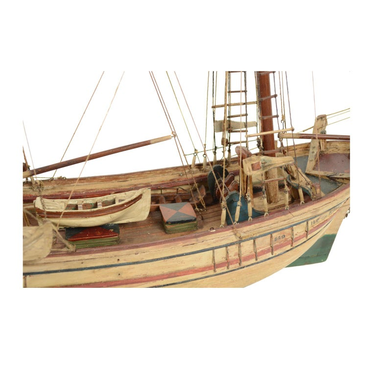 Early 20th Century Wooden Model of a Ship 1915 circa For Sale