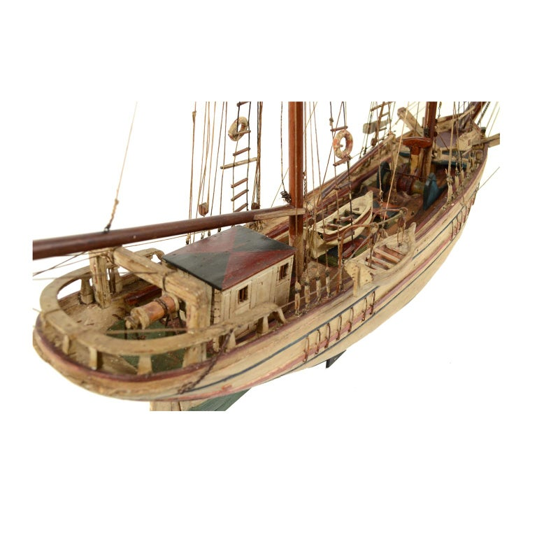 Wooden Model of a Ship 1915 circa For Sale 2