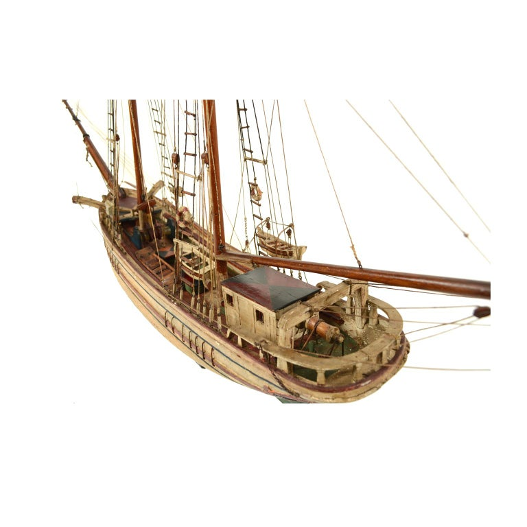 Wooden Model of a Ship 1915 circa For Sale 3