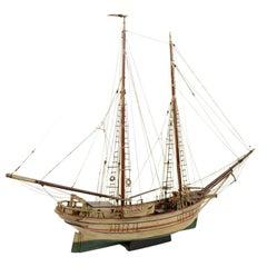 Wooden Model of a Ship 1915 circa
