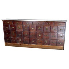 Wooden Multi Drawer Apothecary Cabinet, circa 1910