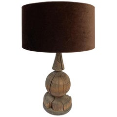 Wooden Object Fabricated into a Classic Lamp