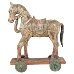 Wooden Oversized Temple Horse from India