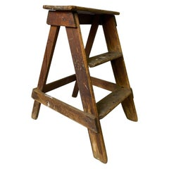 Wooden Painters Ladder or Stairs or Decorative Side Table Stool Form, 1930s