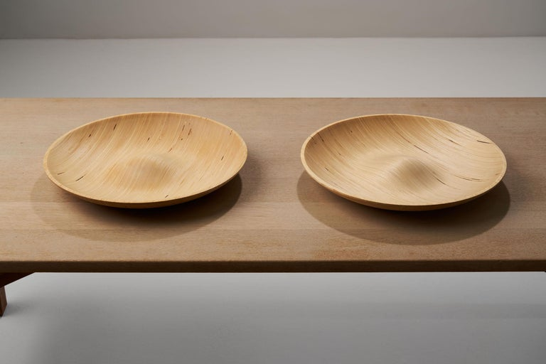 Wooden Plates by Antti Nurmesniemi, Finland, circa 1980s For Sale 3