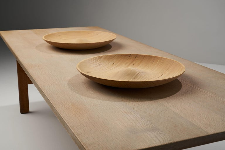 Wooden Plates by Antti Nurmesniemi, Finland, circa 1980s In Good Condition For Sale In Utrecht, NL