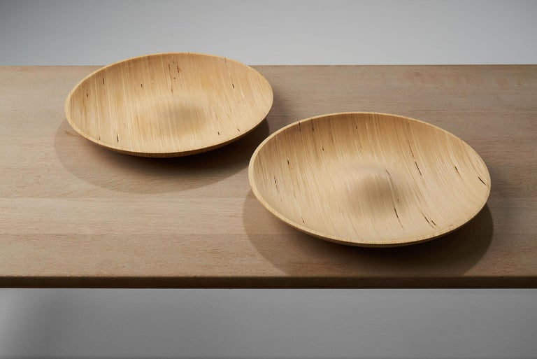 Late 20th Century Wooden Plates by Antti Nurmesniemi, Finland, circa 1980s For Sale