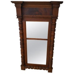 Wooden Rectangular Mirror with Mantel Top