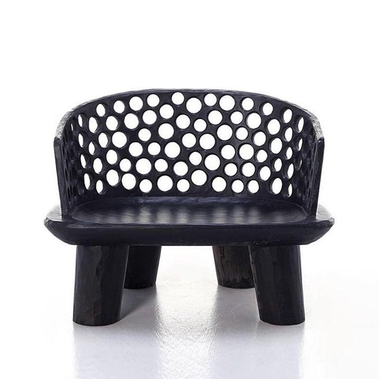 Holz Ringe Sessel aus Massivem Mahagoniholz 2