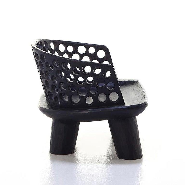 Holz Ringe Sessel aus Massivem Mahagoniholz 3