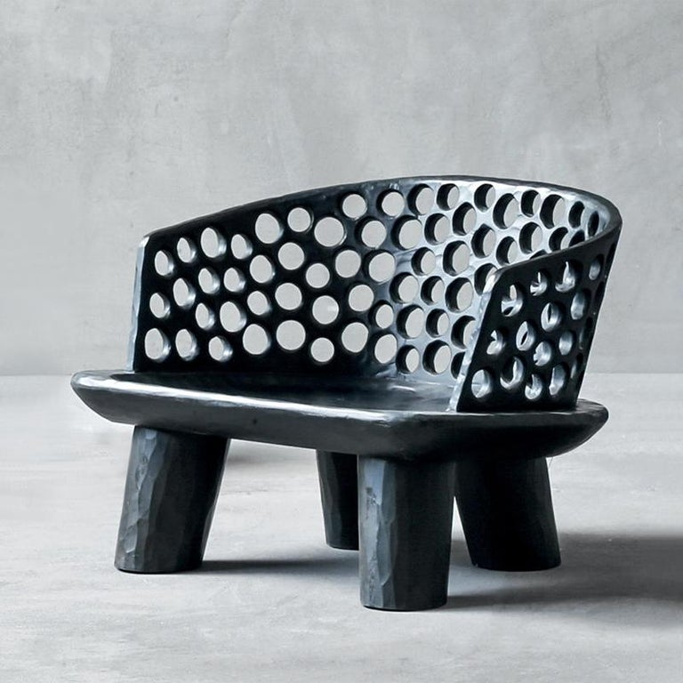 Holz Ringe Sessel aus Massivem Mahagoniholz 4