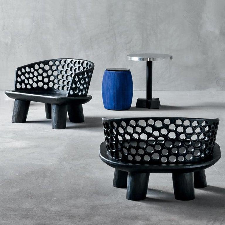 Holz Ringe Sessel aus Massivem Mahagoniholz 5