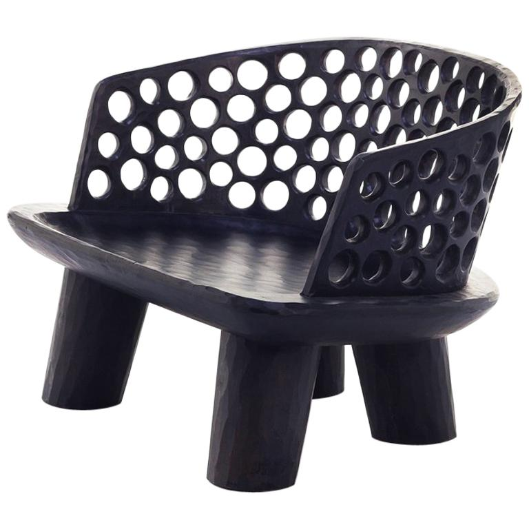 Holz Ringe Sessel aus Massivem Mahagoniholz 1
